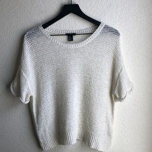 H & M Cream Wide Knit Sweater Size S